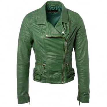 Leather Jacket Green : Medusa