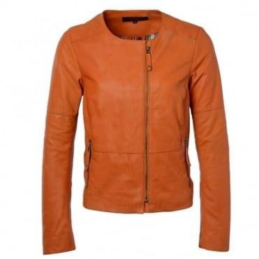 Leather Jacket Orange : Chloe