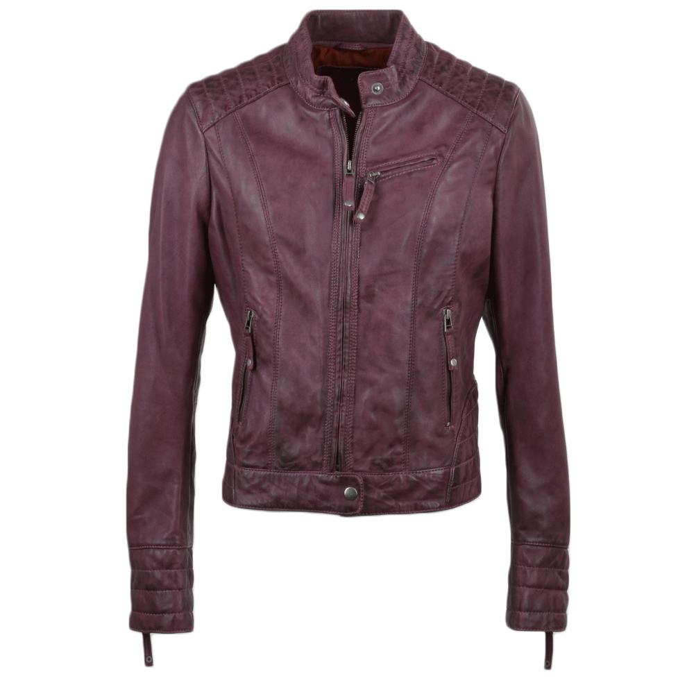 Womens Leather Jacket Purple Essen Women S Leather Jackets