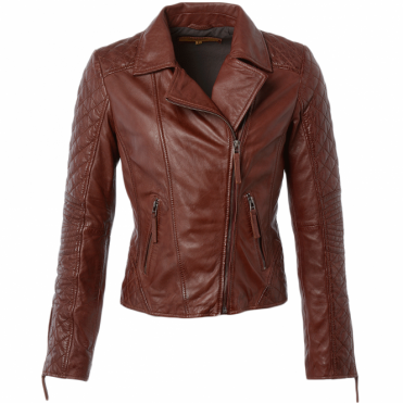 Leather Jacket Veg Ox Blood : Cora