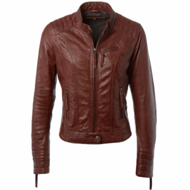 Leather Jacket Veg Ox Blood : Essen