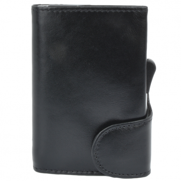 Leather CAB-Secure Wallet black : POH-1152 CLVT