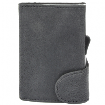 Leather CAB-Secure Wallet Black : POH-1152 COMP