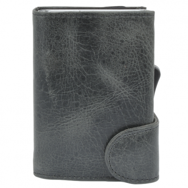 Leather CAB-Secure Wallet Black : POH-1152 STAG