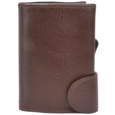 Leather CAB-Secure Wallet brown : POH-1152 CLVT