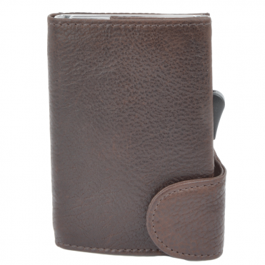 Leather CAB-Secure Wallet Brown : POH-1152 COMP