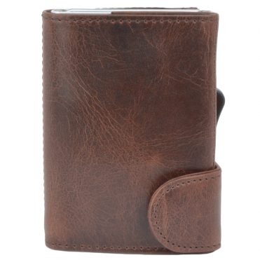 Leather CAB-Secure Wallet Brown : POH-1152 STAG