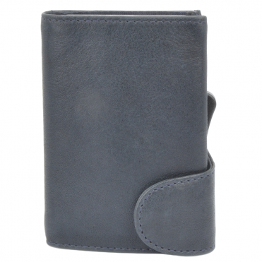 Leather CAB-Secure Wallet Navy : POH-1152 COMP
