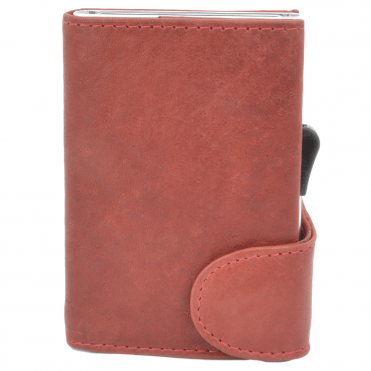 Leather CAB-Secure Wallet Red : POH-1152 COMP