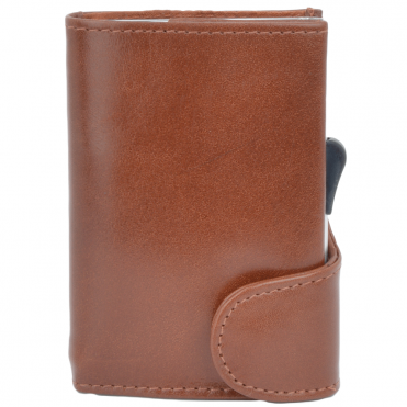 Leather CAB-Secure Wallet Tan : POH-1152 CLVT