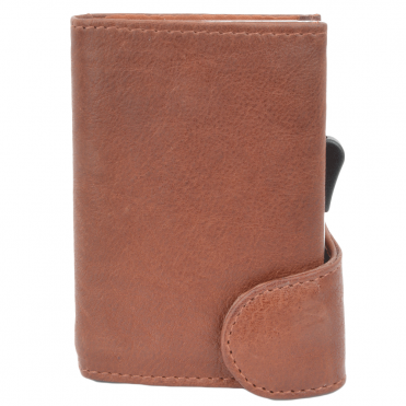 Leather CAB-Secure Wallet Tan : POH-1152 COMP