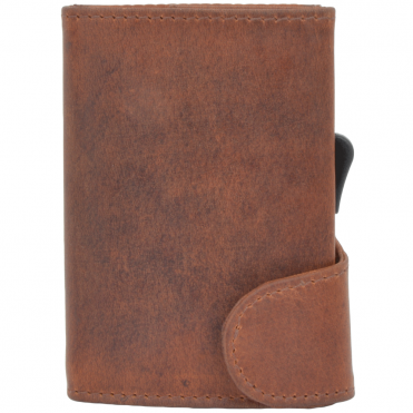 Leather CAB-Secure Wallet Tan :POH 1152 MIMOS