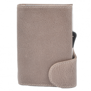 Leather CAB-Secure Wallet Taupe : POH-1152 COMP