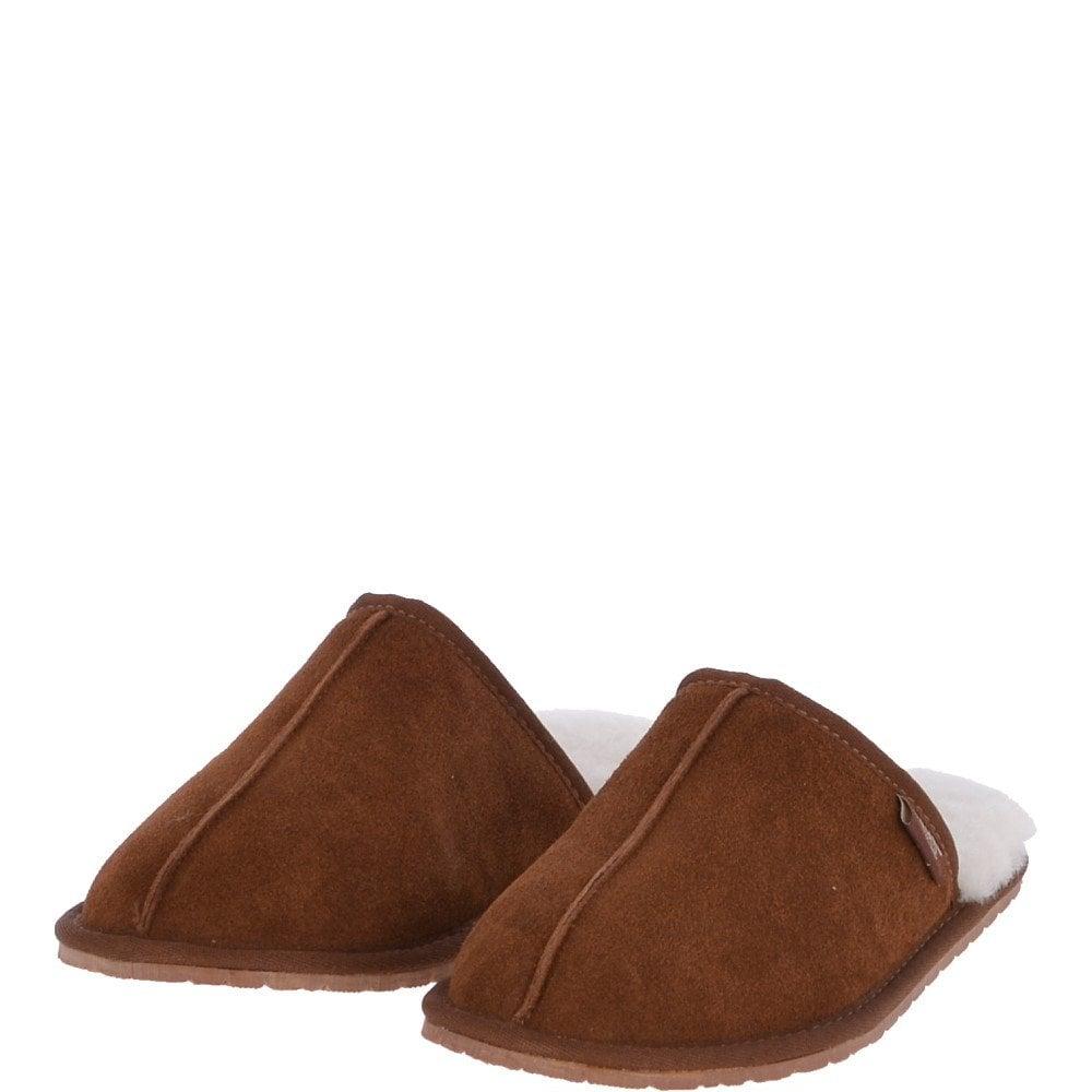 Classic Mens Suede Sheepskin Slippers