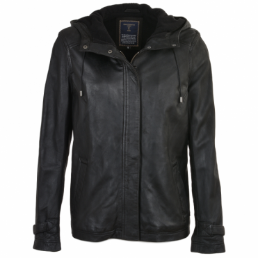 Leather Jacket Black : Nicola