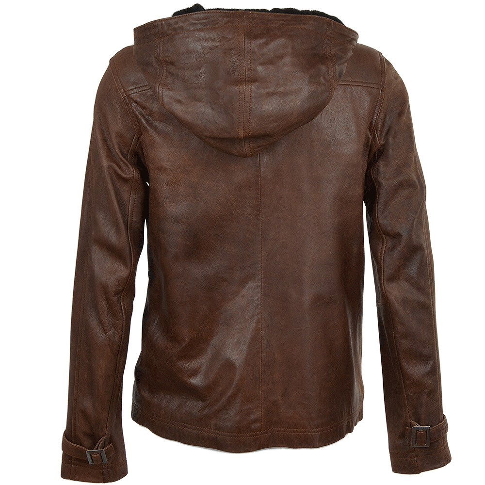Leather jacket uk womens -  Edward Robertson Leather Jacket Cognac Nicola
