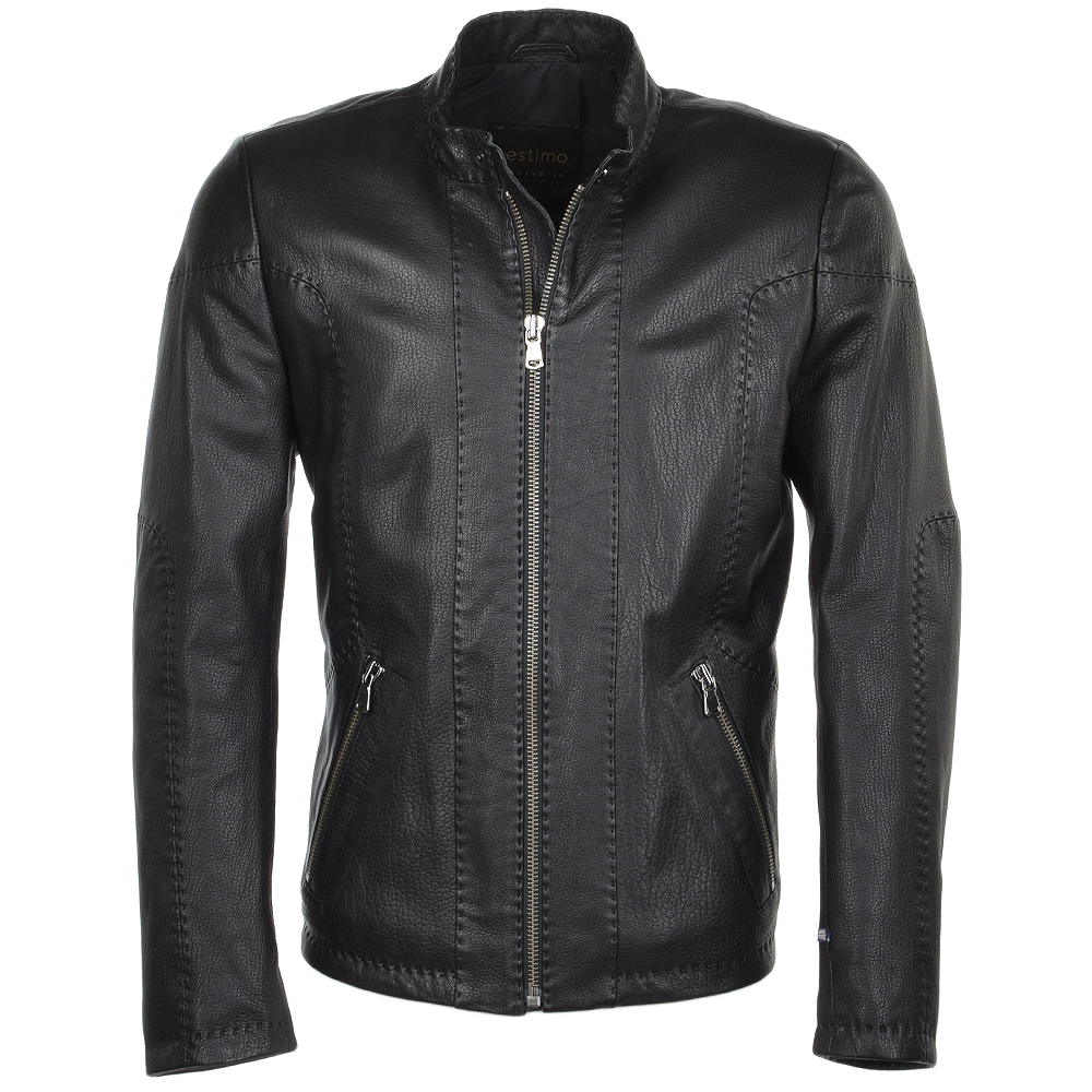 Men S Full Grain Leather Jacket Syh Jumbo Black Petros
