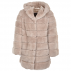 Estimo Hooded Rex Rabbit Fur Coat Beige : Pandora