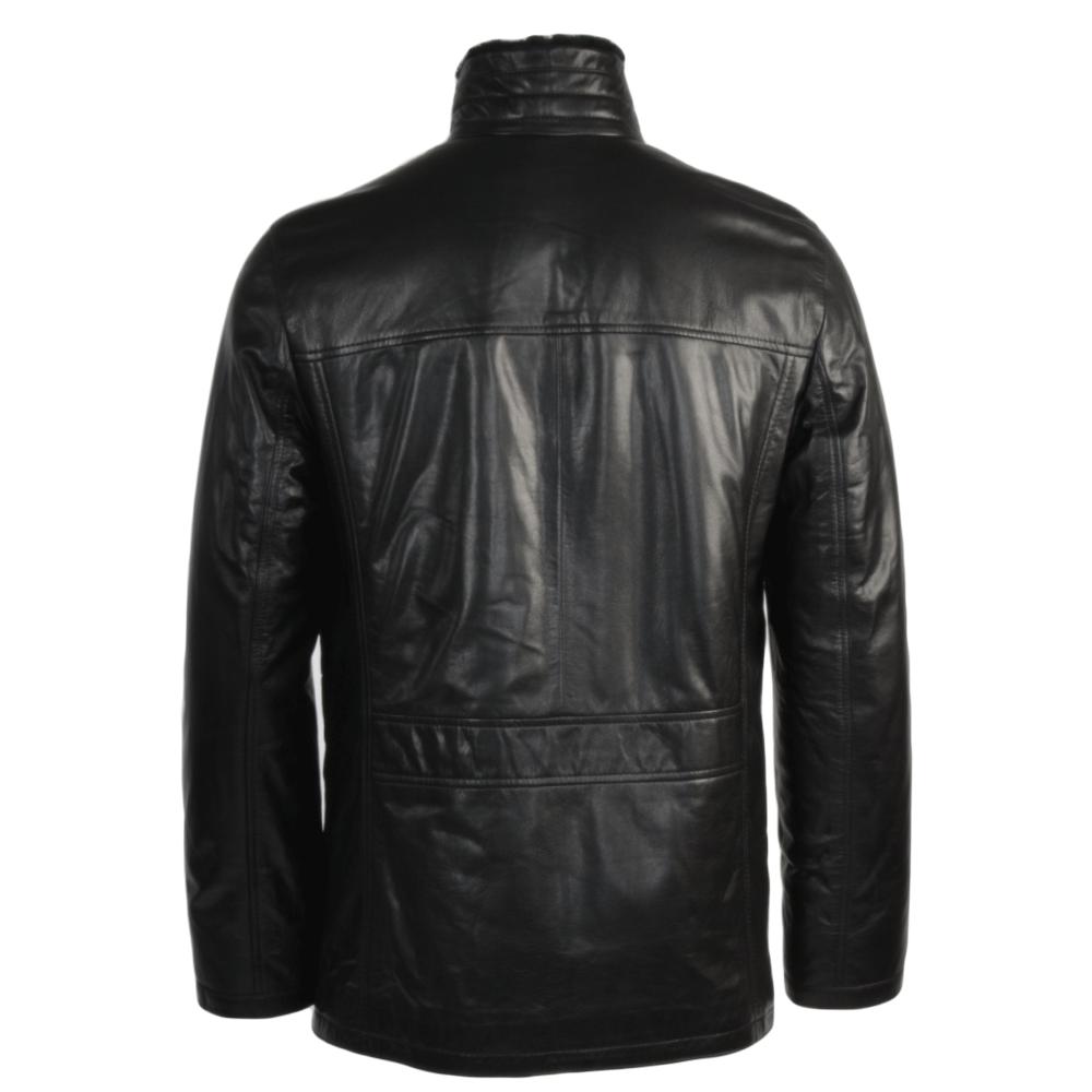 Sheepskin lined leather jacket