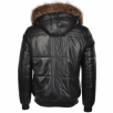 Estimo Lambskin Leather And Sheepskin Lined Hooded Jacket : Odin