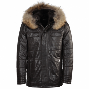 Lambskin Leather And Sheepskin Lined Jacket Brown : Kiruna