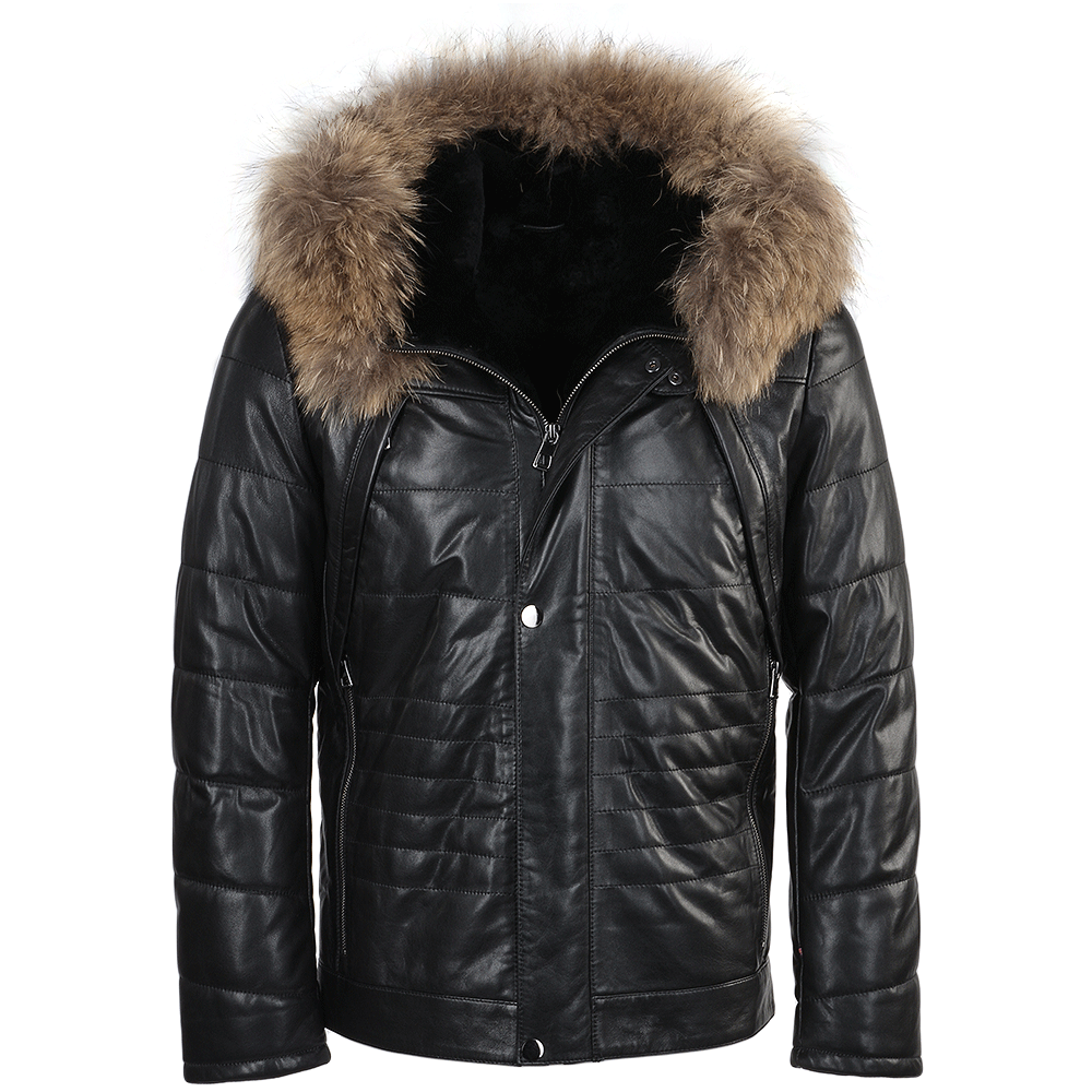 Estimo Lambskin Leather And Sheepskin Lined Jacket Mateo P1287 on regular bean bag chairs