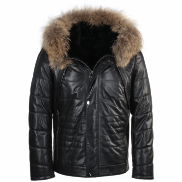 Lambskin Leather And Sheepskin Lined Jacket : Mateo