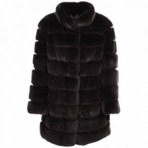 Rex Rabbit Fur Coat Brown: Danier