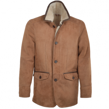 Shearling Coat Tan/snu : Richmond