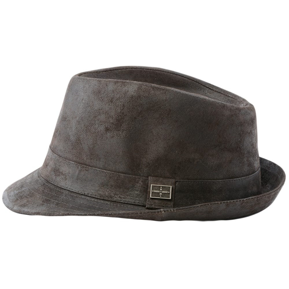 Mens Leather Hat Brown Eh300 Ashwood Leather