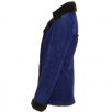 Fenland Double Breasted Suede Lambskin Shearling Coat Royal Blue/brn: Nicole