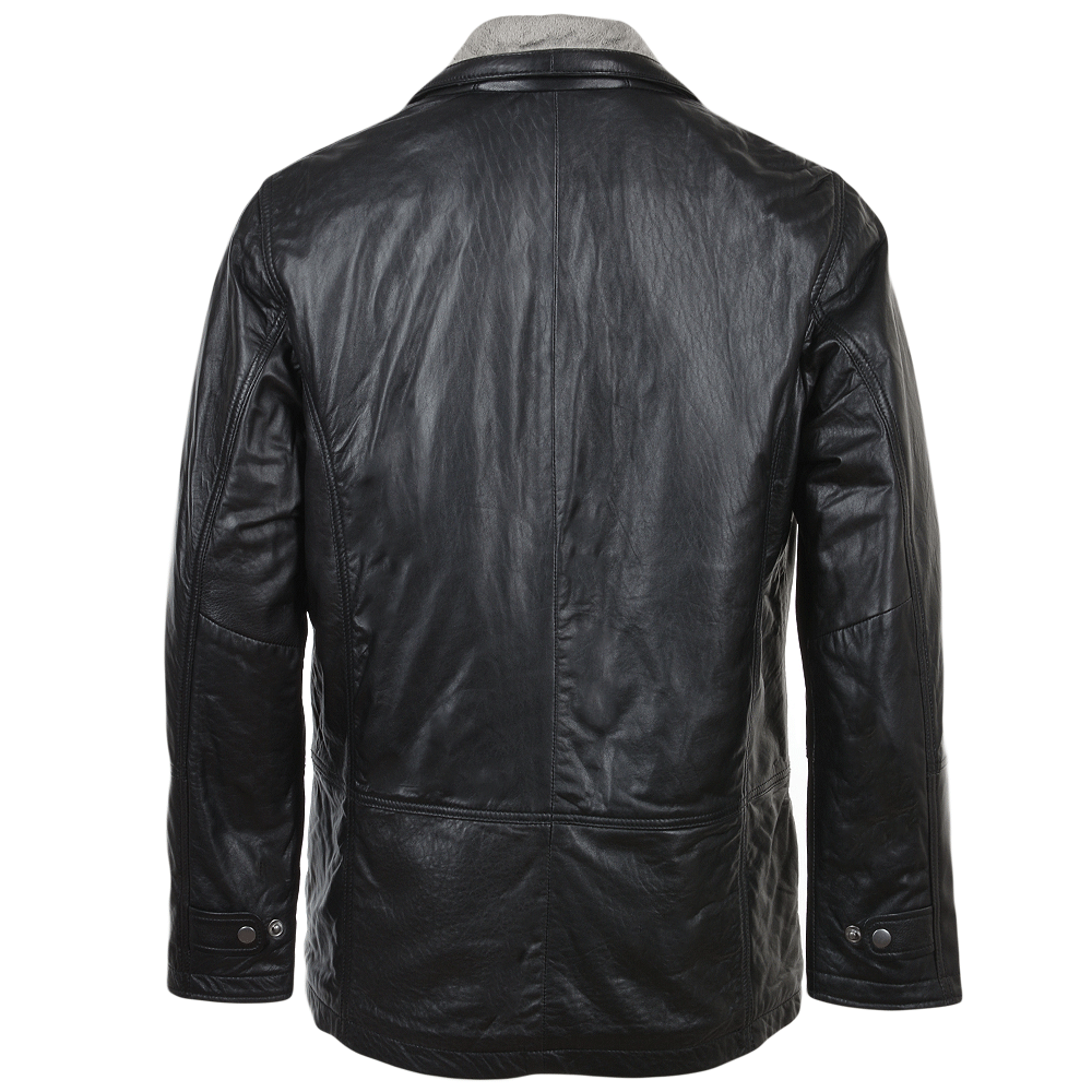 Mens Leather Coat Black Conrad Mens Leather Jackets