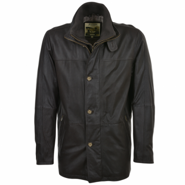 Leather Coat Brown : Louis Philippe