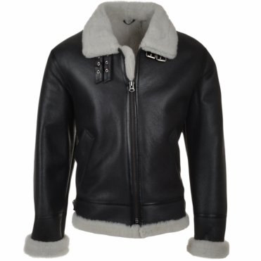 Leather Flying Jacket Black : Welkin