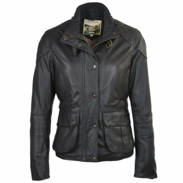 Leather Jacket Black/napp : Emerald