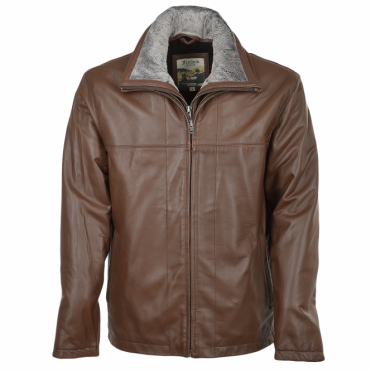 Leather Jacket Brown : Kenneth