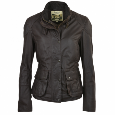 Leather Jacket Brown/napp : Emerald