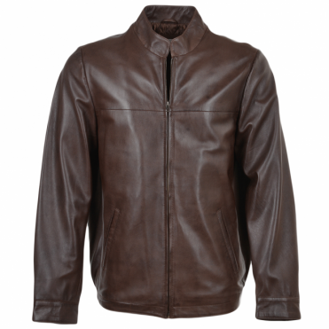Leather Jacket Mid Brown : Marlon