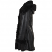 Fenland Shearling Hooded Toscana Tipped Coat Black : Anna