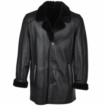 Sheepskin Coat Black : Arcturus