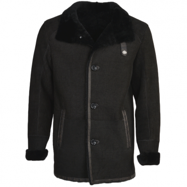 Sheepskin Coat Black : Bertram