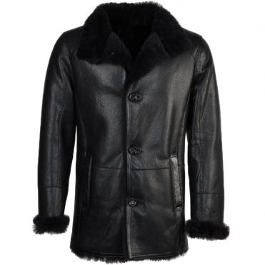 Sheepskin Coat Black : Sergio