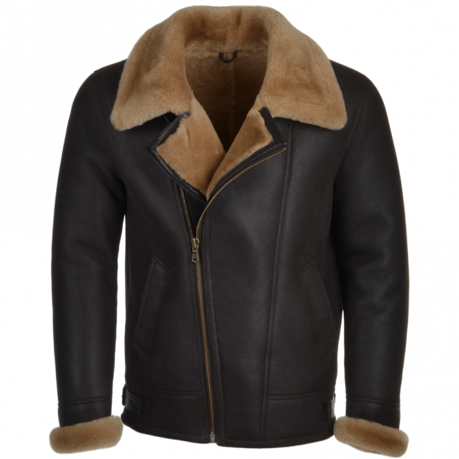 Fenland Sheepskin Flying Jacket Brn/ginger : Ivan