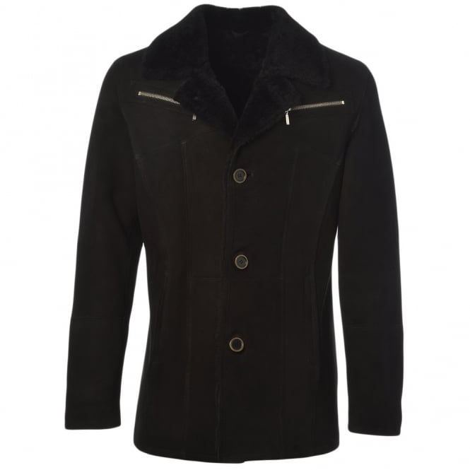Fenland Sheepskin Jacket Black : Maximus