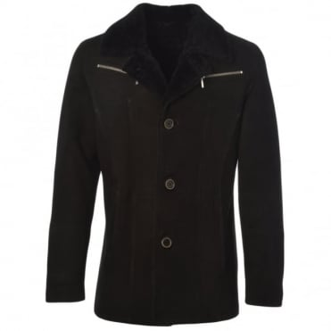 Sheepskin Jacket Black : Maximus