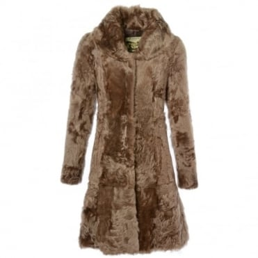 Womens Sheepskin Coat Brown : Fen Bear