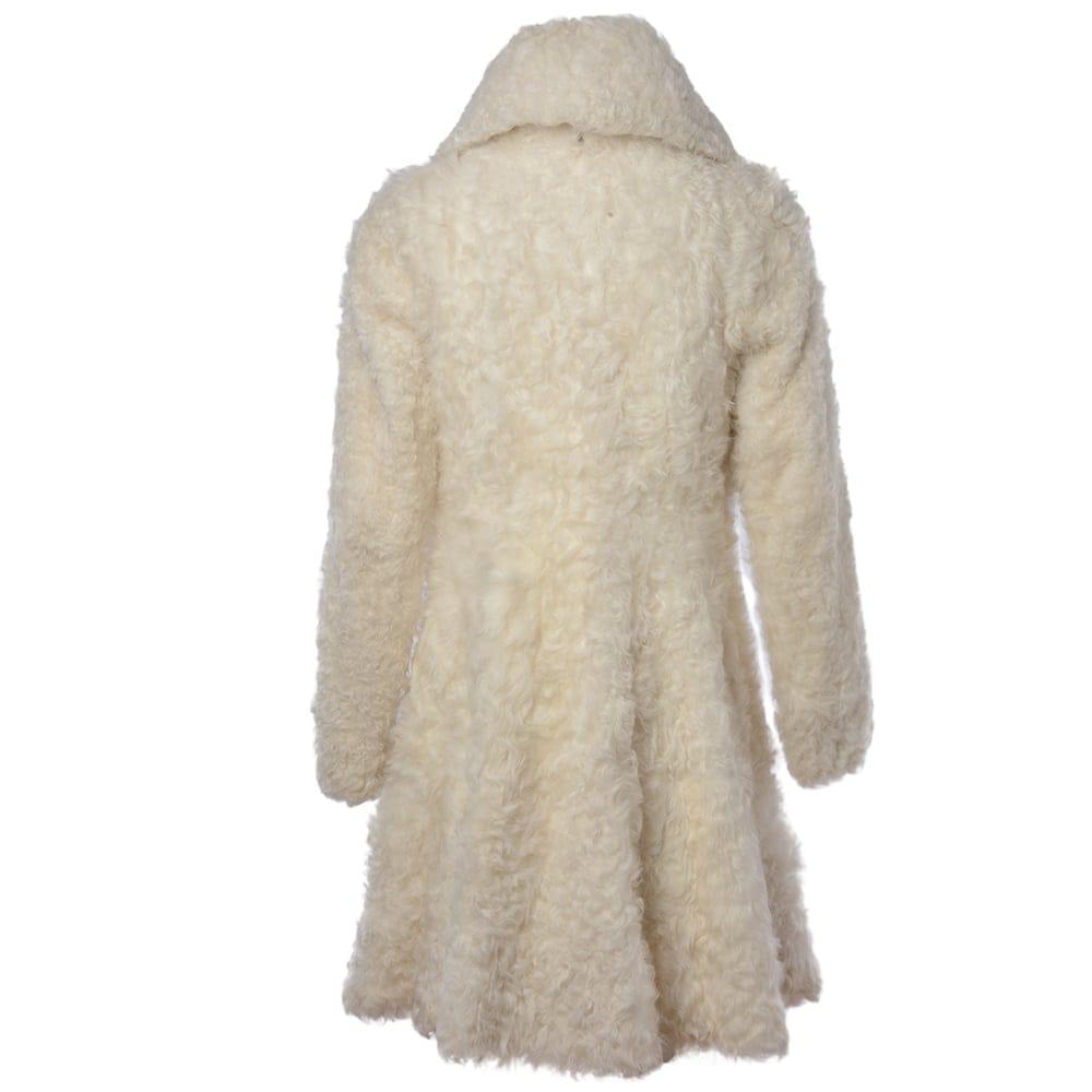 Womens Sheepskin Coat White Fen Bear Womens Sheepskin