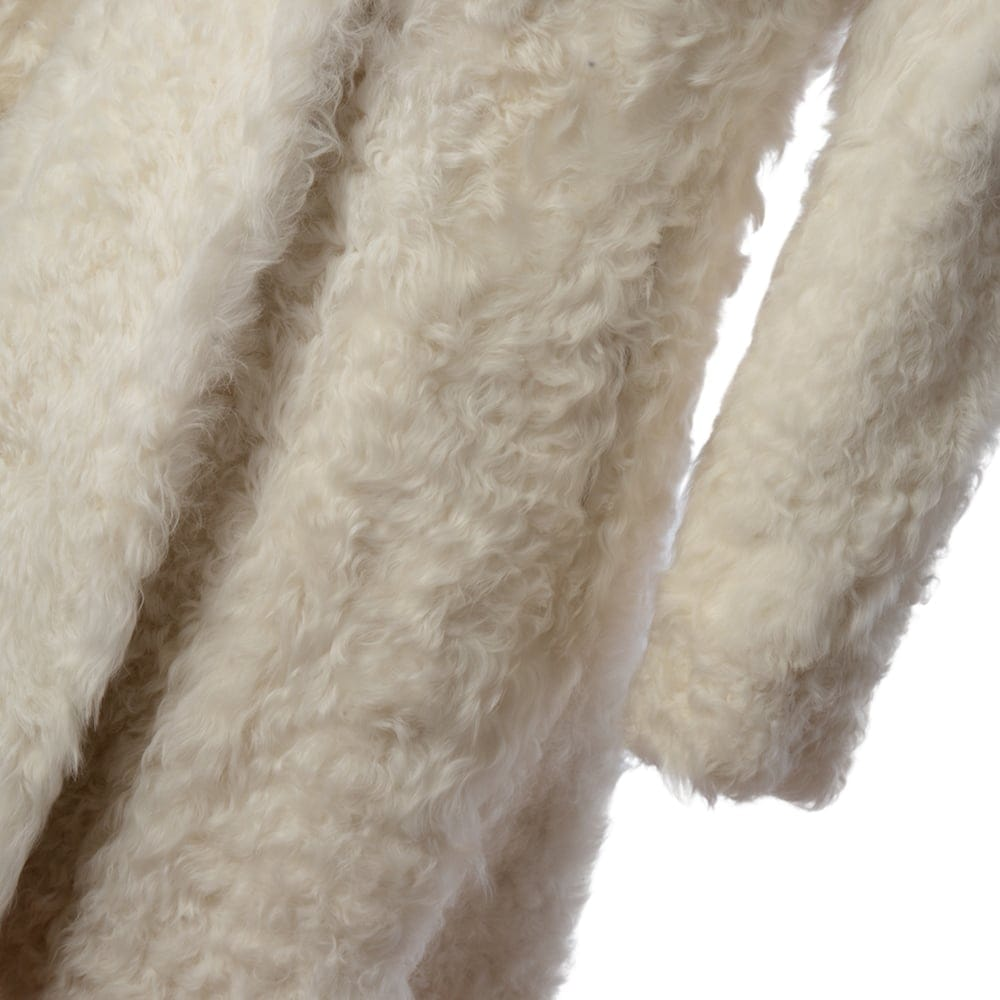 Womens Sheepskin Coat White Fen Bear Womens Sheepskin