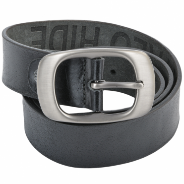 Leather Belt Black : Stones B2