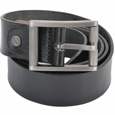 Leather Belt Black : Stones B3